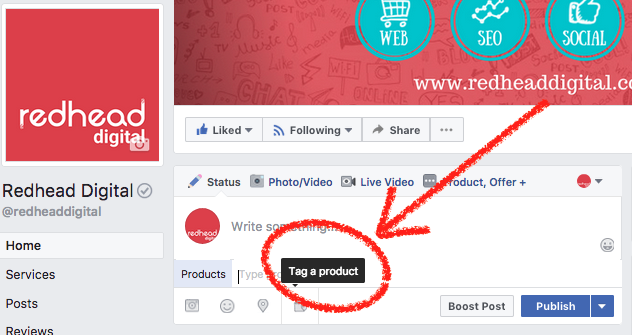 Tag A Product Facebook