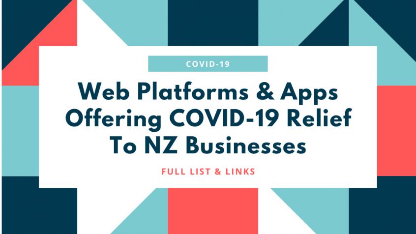 Web platforms COVID-19 NZ
